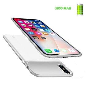 Husa cu baterie externa Slim pentru iPhone X/ XS