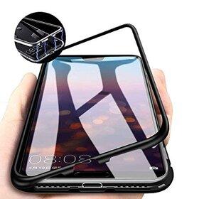 Husa cu Bumper Magnetic si Spate din Sticla Securizata pentru Galaxy A10 Black