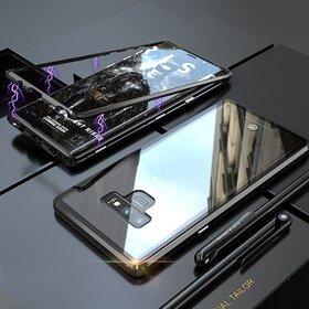Husa cu Bumper Magnetic si Spate din Sticla Securizata pentru Galaxy Note 9