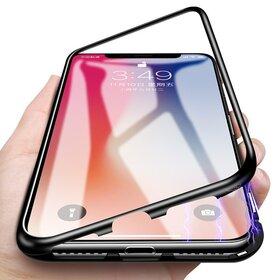 Husa cu Bumper Magnetic si Spate din Sticla Securizata pentru Galaxy S8 Plus