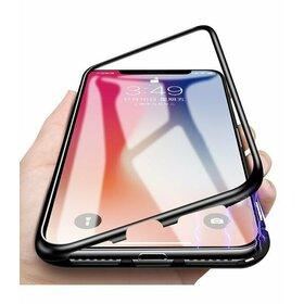 Husa cu Bumper Magnetic si Spate din Sticla Securizata pentru Huawei P20 Lite (2018)