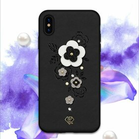 Husa cu Cristale Swarovski - Kingxbar Petal Series pentru iPhone X/XS