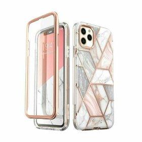 Husa 360 cu insertii marmura Supcase COSMO Marble + Folie Ecran pentru iPhone 11 Pro Rose Gold