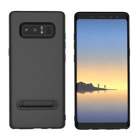 Husa cu Stand Carbon Fiber pentru Galaxy Note 8