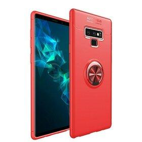 Husa din silicon cu inel magnetic rotativ pentru Galaxy Note 9 Red