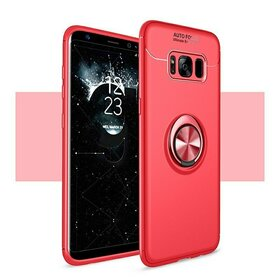 Husa din silicon cu inel magnetic rotativ pentru Galaxy S8 Plus Red