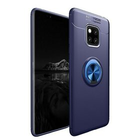 Husa din silicon cu inel magnetic rotativ pentru Huawei Mate 20 Pro Blue