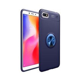 Husa din silicon cu inel magnetic rotativ pentru Huawei Y5 (2018) Blue