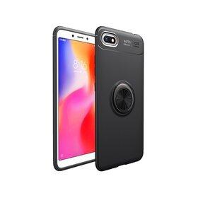 Husa din silicon cu inel magnetic rotativ pentru Huawei Y5 (2018) Black