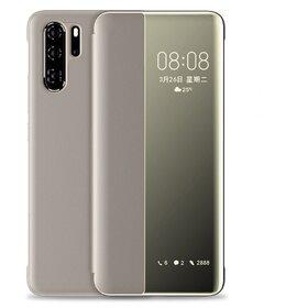 Husa flip inteligenta pentru Huawei P30 Pro Gold
