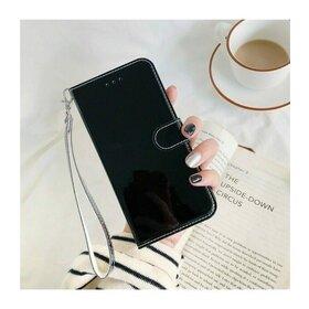 Husa Flip Mirror 3D pentru iPhone SE 2 (2020) / iPhone 7 / iPhone 8 Black