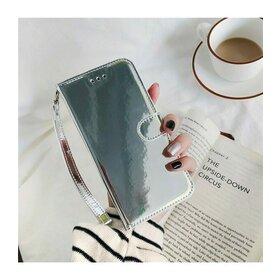 Husa Flip Mirror 3D pentru iPhone SE 2 (2020) / iPhone 7 / iPhone 8 Silver