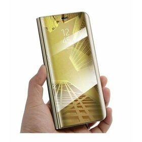 Husa Flip Mirror pentru Galaxy A6 (2018) Plus Gold