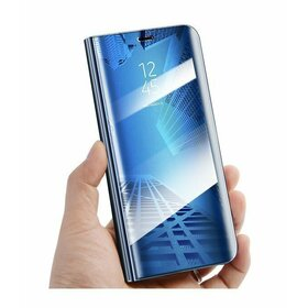 Husa Flip Mirror pentru Galaxy A80 Blue