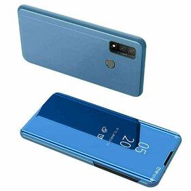 Husa Flip Mirror pentru Huawei P Smart (2020) Blue