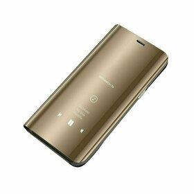 Husa Flip Mirror pentru Huawei P Smart (2020) Gold