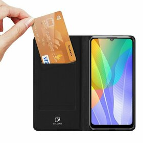 Husa flip tip Carte DUX DUCIS Skin Pro pentru Huawei Y6P (2020) Black