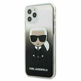 Husa Karl Lagerfeld - Iconic Karl Gradient pentru iPhone 12 Pro / iPhone 12 Black