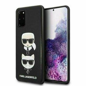 Husa Karl Lagerfeld si Choupette din piele neagra pentru Samsung Galaxy S20 Plus Black