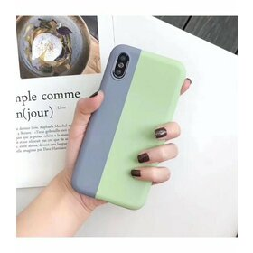 Husa magnetica din silicon pentru iPhone XS Max Monster Green