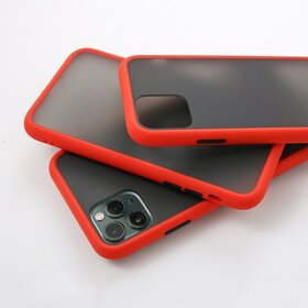 Husa mata cu bumper din silicon pentru Galaxy A10 Red