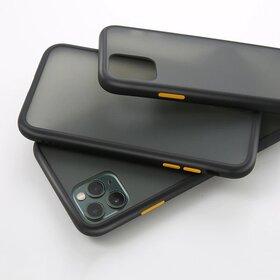 Husa mata cu bumper din silicon pentru Galaxy A70 Black