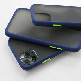 Husa mata cu bumper din silicon pentru Galaxy A70 Blue