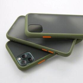 Husa mata cu bumper din silicon pentru Galaxy A70 Green