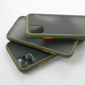 Husa mata cu bumper din silicon pentru iPhone 7 Plus/ iPhone 8 Plus Green