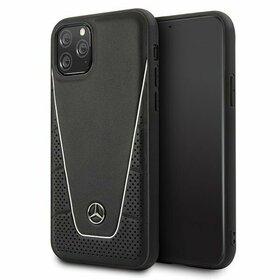Husa Mercedes Neagra cu emblema argintie pentru iPhone 11 Pro