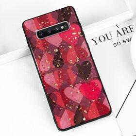 Husa protectie cu model inimi pentru Galaxy J4 Plus (2018)