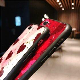 Husa protectie cu model inimi pentru Huawei Mate 20 Lite