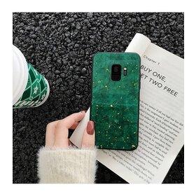 Husa protectie cu model marble pentru Galaxy A7 (2018) Green