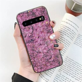 Husa protectie cu model marble pentru Galaxy A7 (2018) Pink
