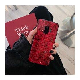 Husa protectie cu model marble pentru Galaxy J4 (2018) Red