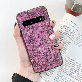 Husa protectie cu model marble pentru Galaxy S8 Pink
