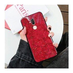 Husa protectie cu model marble pentru Huawei Mate 20 Lite Red