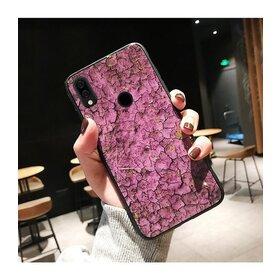Husa protectie cu model marble pentru Huawei Mate 20 Pro Pink