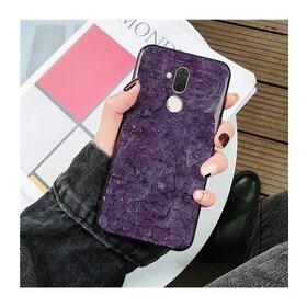 Husa protectie cu model marble pentru Huawei Mate 20 Pro Purple