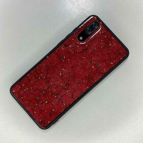 Husa protectie cu model marble pentru Huawei P20 Red