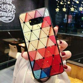 Husa protectie cu model multicolor pentru Galaxy A7 (2018)
