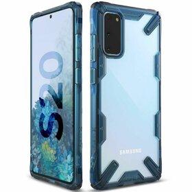 Husa Ringke Fusion X PC + Bumper TPU pentru Samsung Galaxy S20 Blue