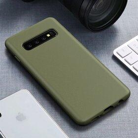 Husa Silicon Eco pentru Galaxy S10 Kaki