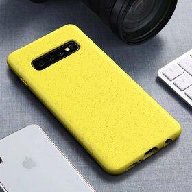Husa Silicon Eco pentru Galaxy S10 Yellow