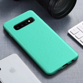 Husa Silicon Eco pentru Galaxy S10 Plus Green Mint