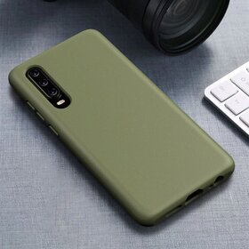 Husa Silicon Eco pentru Huawei P30 Lite Kaki
