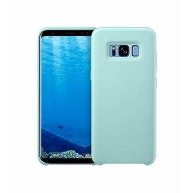 Husa Silicon Premium pentru Galaxy A8 (2018) Baby Blue