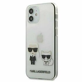 Husa transparenta Karl Lagerfeld si Choupette pentru iPhone 12 Mini Transparent