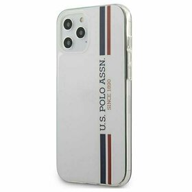 Husa US Polo ASSN. cu model pentru iPhone 12 Pro Max White