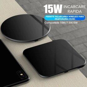 Incarcator wireless fast charge 15W Rotund